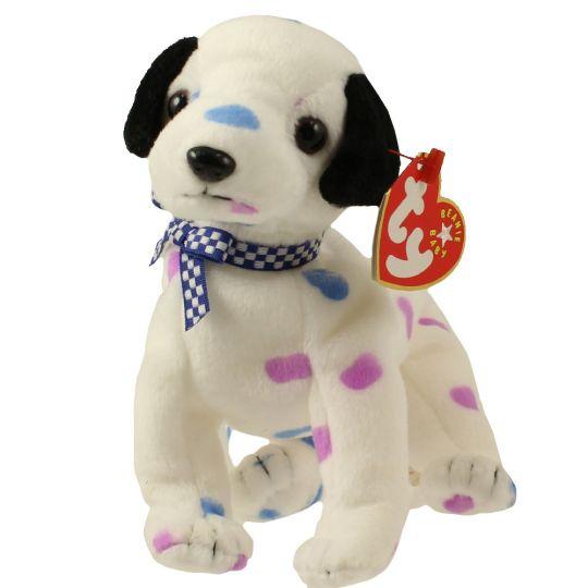 TY Beanie Baby - DIZZY the Dalmatian (colored spots   black ears) (5.5  inch)  BBToyStore.com - Toys 325842fb2185