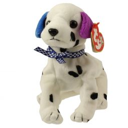 TY Beanie Baby - DIZZY the Dalmatian  UK VERSION  (black spots   colored 8378adb274f6