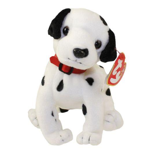 Ty Beanie Baby Dizzy The Dalmatian Black Spots Black Ears Red