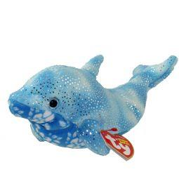 4444c4adac3 TY Beanie Baby - DOCKS the Blue Dolphin (8 inch)