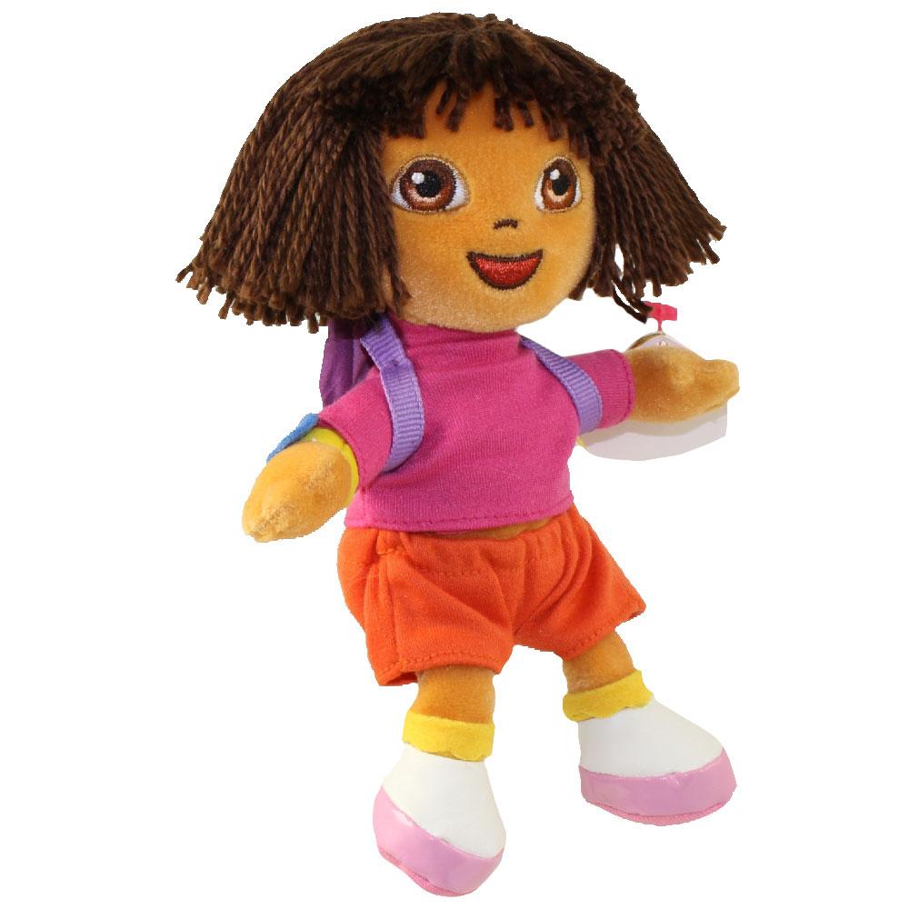 TY Beanie Baby - DORA the Explorer (Yarn Hair Version) (7.5 inch)   BBToyStore.com - Toys d44fc63b8fa