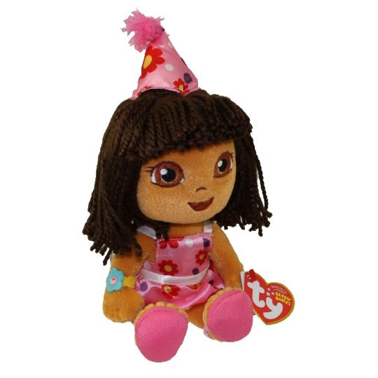 TY Beanie Baby - DORA the Explorer (Happy Birthday Version) (9 inch)   BBToyStore.com - Toys da0a2416617