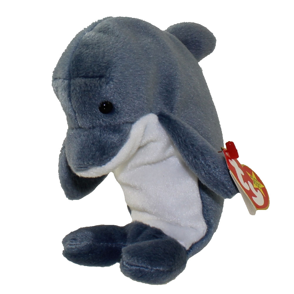 cf75d9acd81 TY Beanie Baby - ECHO the Dolphin  ODDITY  (w  Waves Hang   Tush Tags) (6.5  inch)  BBToyStore.com - Toys