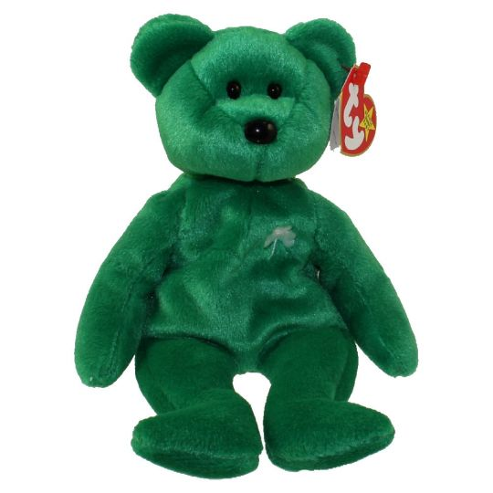 b08e3309ace TY Beanie Baby - ERIN the Irish Bear (8.5 inch)  BBToyStore.com - Toys