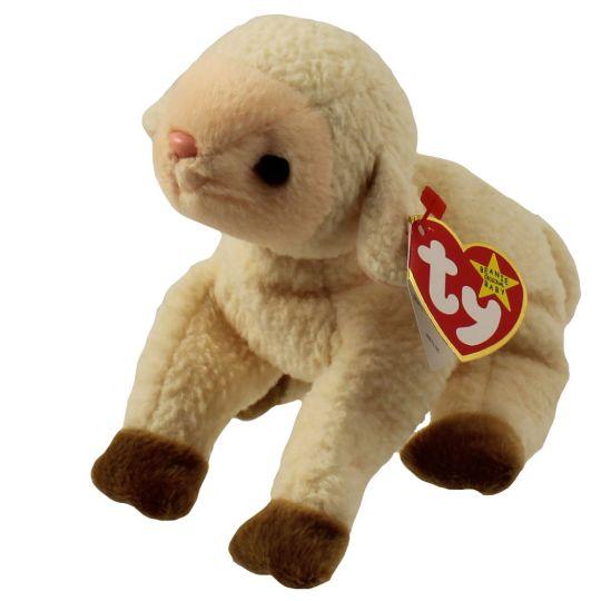 TY Beanie Baby - EWEY the Lamb (5.5 inch): BBToyStore.com - Toys ...