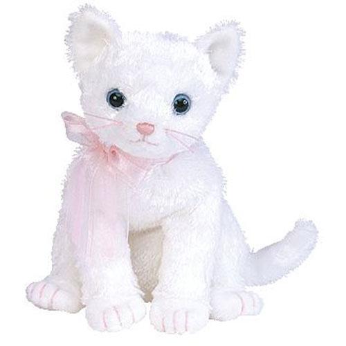 Ty Beanie Baby Fancy The White Cat 6 Inch Bbtoystore