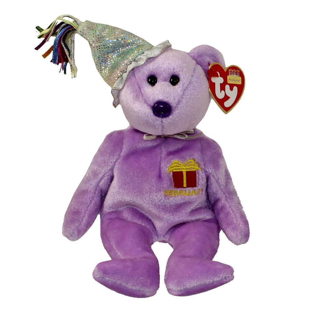 6d82c30e28f TY Beanie Baby - FEBRUARY the Teddy Birthday Bear (w  hat) (9.5