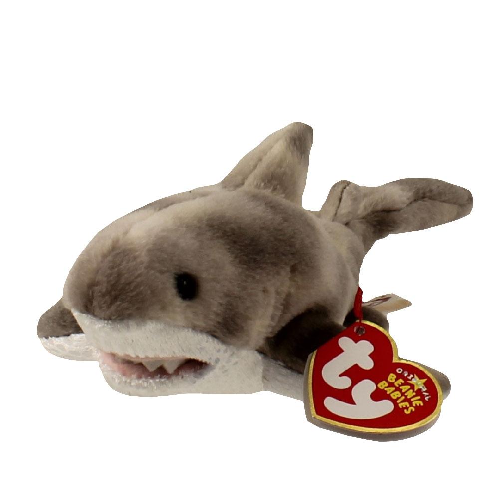 Ty Beanie Baby Finn The Shark 9 Inch Bbtoystore Com