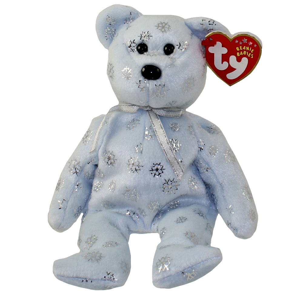 TY Beanie Baby - FLAKY the Snowflake Bear (8.5 inch)  BBToyStore.com -  Toys 4d1ca0af6a9
