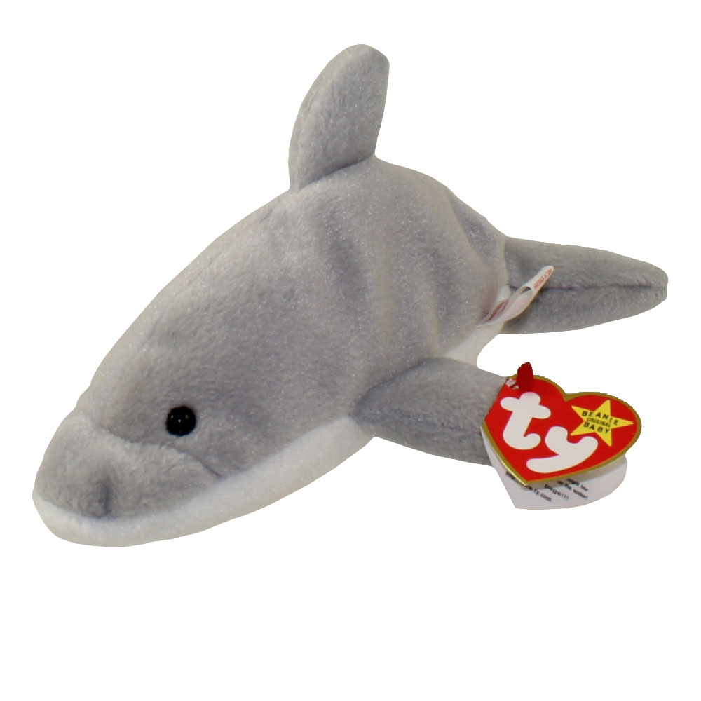 caa8f56dc1b TY Beanie Baby - FLASH the Dolphin (4th Gen hang tag) ...