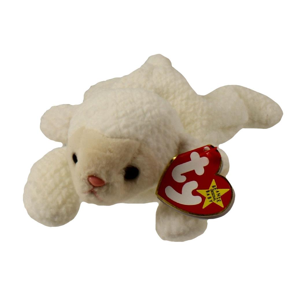 9bde6cf17b0 TY Beanie Baby - FLEECE the Lamb (7.5 inch)  BBToyStore.com - Toys ...
