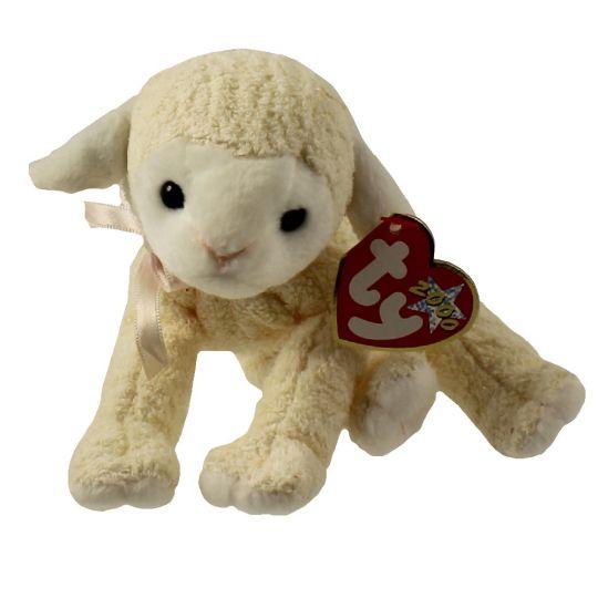 eca1bc79bc8 TY Beanie Baby - FLEECIE the Lamb (6 inch)  BBToyStore.com - Toys ...