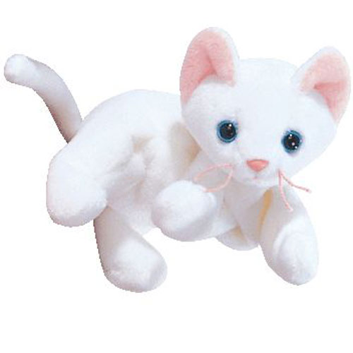 Ty Beanie Baby Flip The White Cat 4th Gen Hang Tag 7 5 Inch