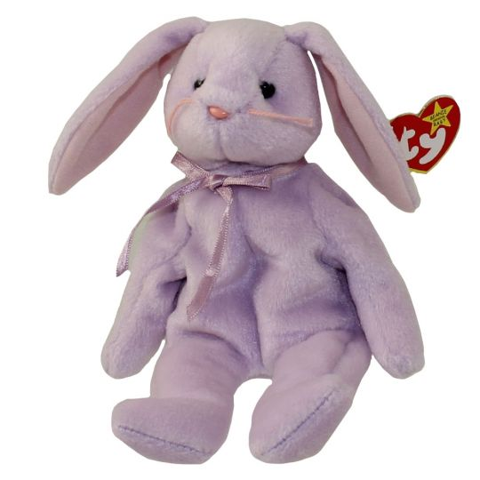 Ty Beanie Baby Floppity The Purple Bunny 8 5 Inch Bbtoystore