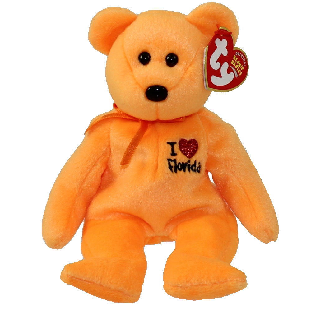dce2831a632 TY Beanie Baby - FLORIDA the Bear (I Love Florida - State Exclusive) (