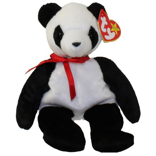 TY Beanie Baby - FORTUNE the Panda Bear (8 inch)  BBToyStore.com - Toys 2babc40357a