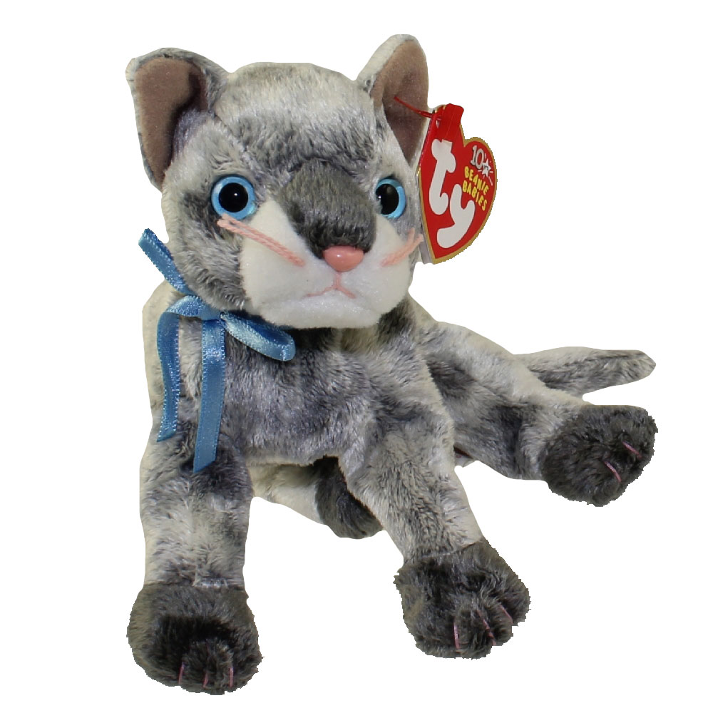 TY Beanie Baby FRISCO the Gray Cat 7 inch BBToyStore