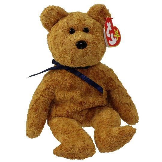 0494fedb5c5 TY Beanie Baby - FUZZ the Bear (9 inch)  BBToyStore.com - Toys ...