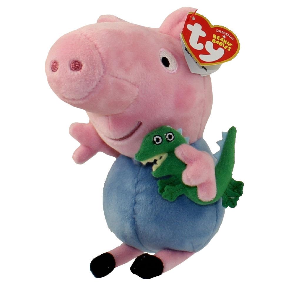 e0a2b1d4521 TY Beanie Baby - GEORGE PIG (U.S. Version Peppa Pig - 6 inch)
