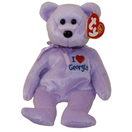 b8ef3c6a8ec TY Beanie Baby - GEORGIA the Bear (I Love Georgia - State Exclusive) (8.5  inch)  BBToyStore.com - Toys