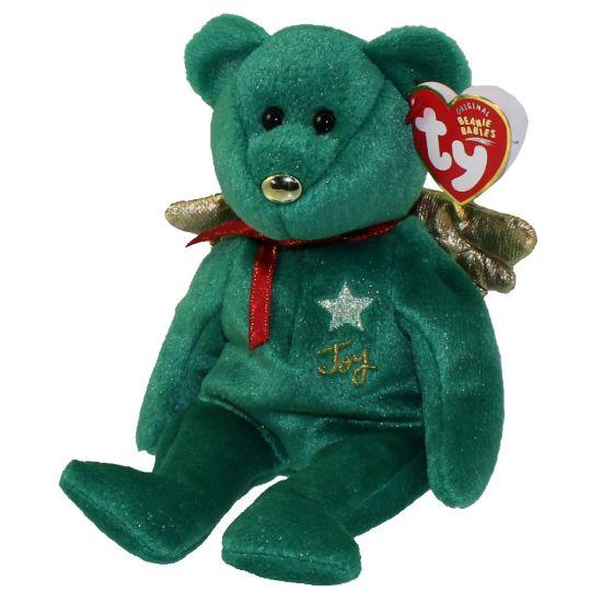 c7b09503de2856 TY Beanie Baby - GIFT the Bear (Green Version) (Hallmark Gold Crown  Exclusive) (8 inch)  BBToyStore.com - Toys