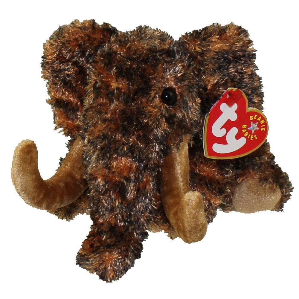 ty beanie baby - giganto the wooly mammoth  6 inch   bbtoystore com