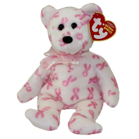 TY Beanie Baby - GIVING the Bear (Breast Cancer Awareness Bear) (8 inch)   BBToyStore.com - Toys 5c8bdaf396