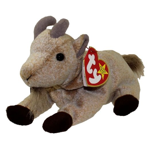 TY Beanie Baby - GOATEE the Goat (6 inch)  BBToyStore.com - Toys ... 2d04e7c31c51