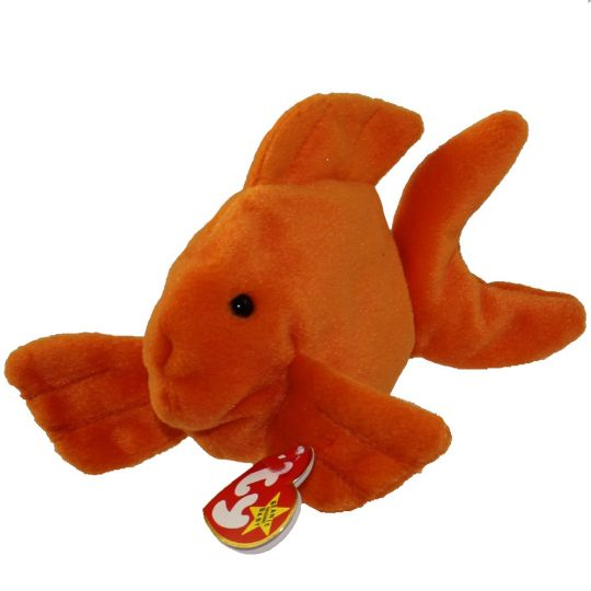 2a6e28ee329 TY Beanie Baby - GOLDIE the Goldfish (4th Gen hang tag) (7.5 inch)   BBToyStore.com - Toys