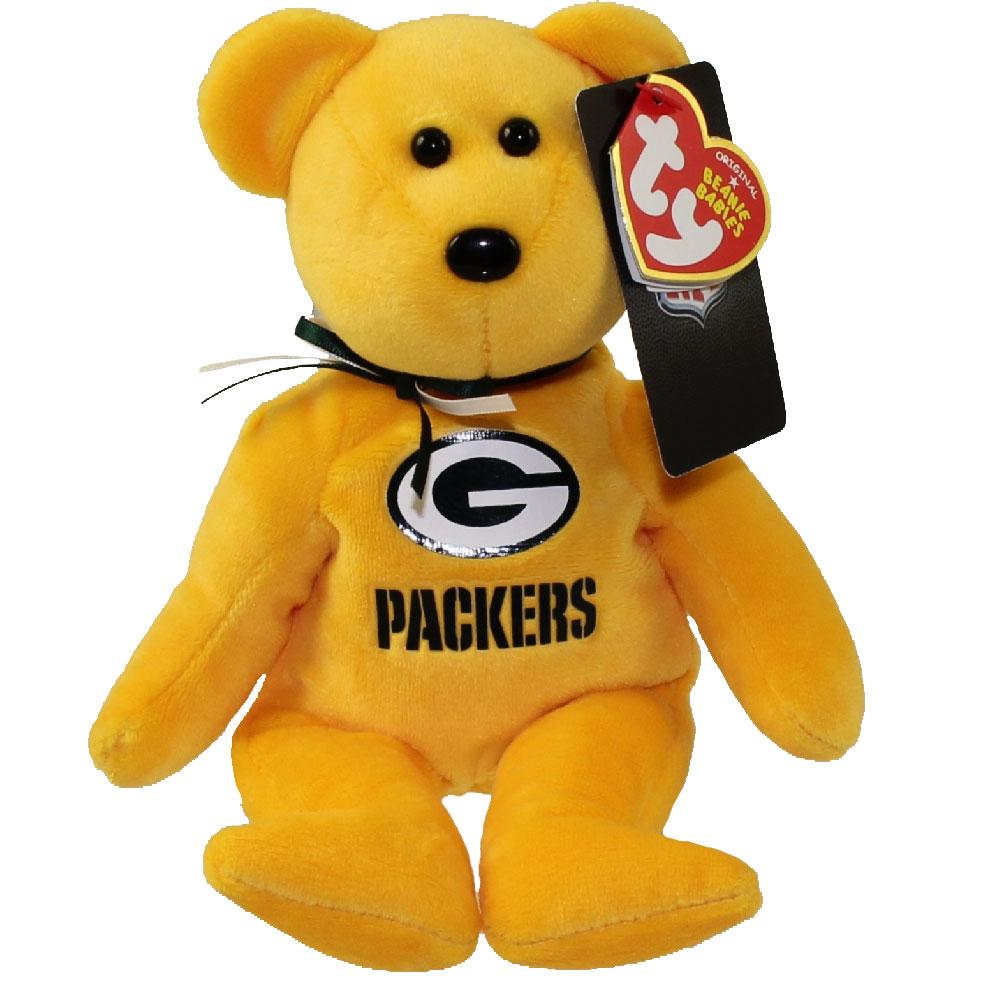 Rublix Toys Green Bay : Ty beanie baby nfl football bear green bay packers