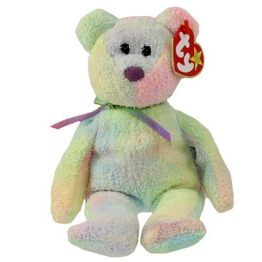 0169ef5a5b6 TY Beanie Baby - GROOVY the Ty-Dyed Bear (8.5 inch)  BBToyStore.com - Toys