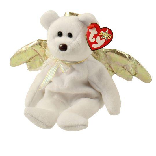 TY Beanie Baby - HALO 2 the Angel Bear (8.5 inch)  BBToyStore.com - Toys 1a65238bbc0