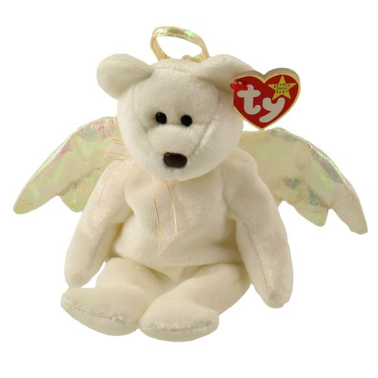 TY HALO the ANGEL BEAR BEANIE BABY MINT with MINT TAGS
