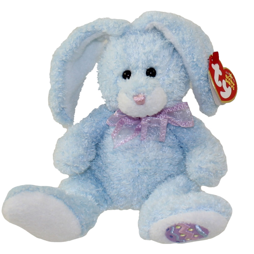 Ty Beanie Baby Happily The Blue Bunny Hallmark Gold Crown