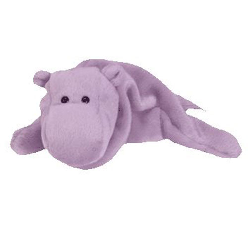 ty beanie baby - happy the hippo  9 inch   bbtoystore com