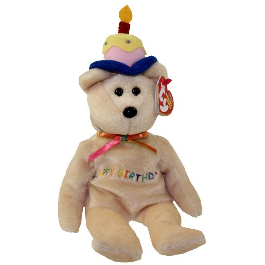 37b7d5e324b TY Beanie Baby - HAPPY BIRTHDAY the Bear (w Cake   Candle Hat) (10 inch)   BBToyStore.com - Toys