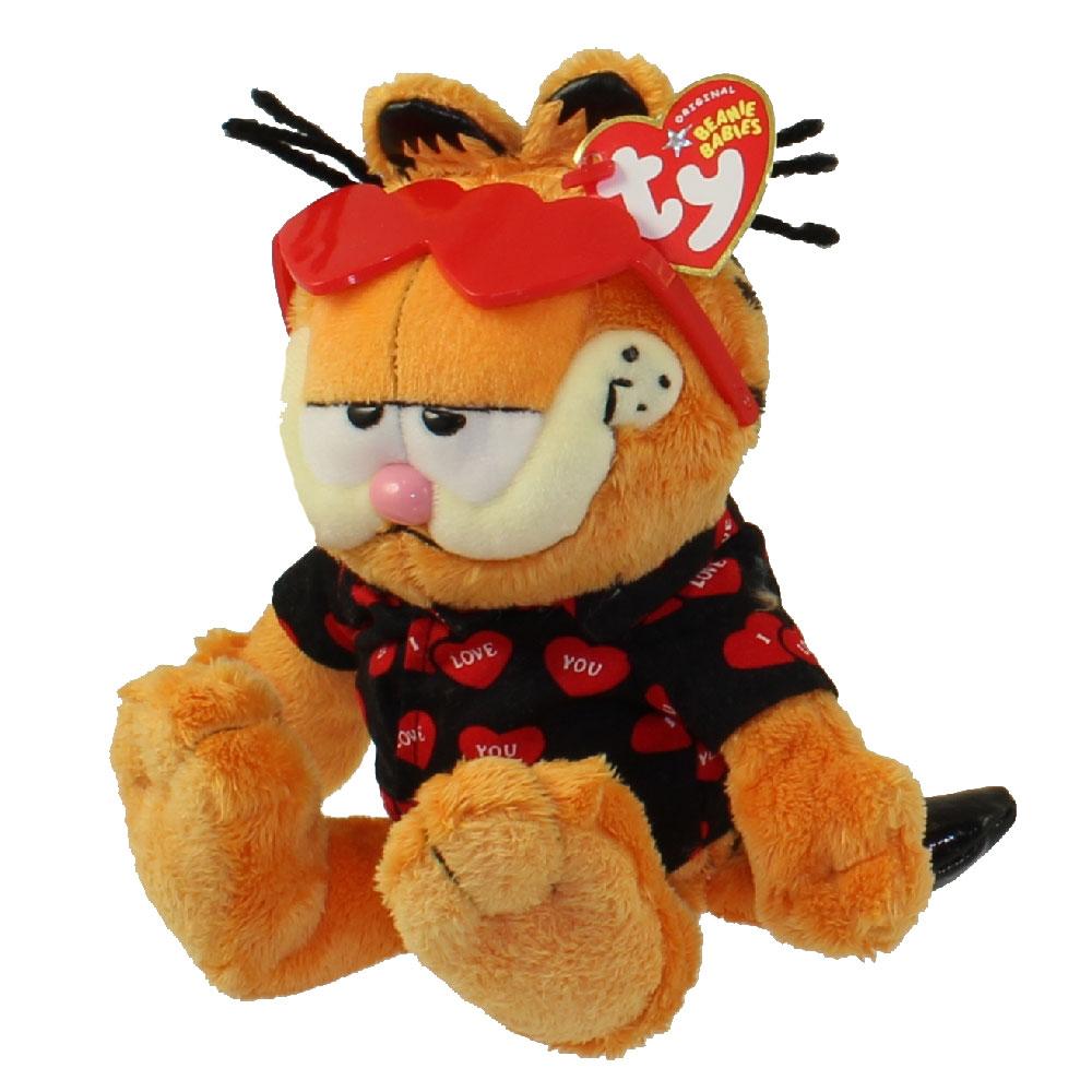 Valentine S Day Talking Toys : Ty beanie baby garfield the cat happy valentine s day