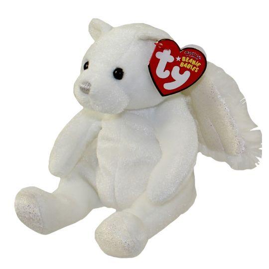 TY Beanie Baby - HEAVENLY the Angel Bear (7 inch)  BBToyStore.com - Toys 1b2bdfdb5a9