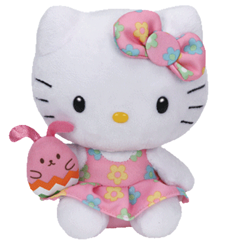 TY Beanie Baby - HELLO KITTY ( SPRING DRESS holding BUNNY ) (5.5 inch)   BBToyStore.com - Toys bed64191d6a