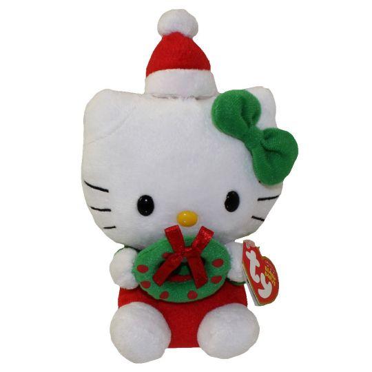 Ty Beanie Baby Hello Kitty Holiday Wreath
