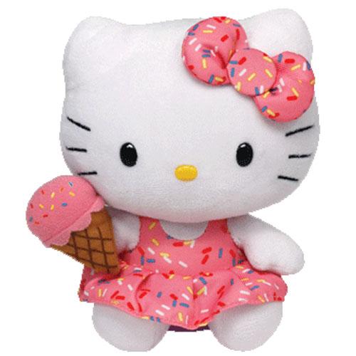 TY Beanie Baby  HELLO KITTY (Ice Cream  6 inch   -> Kuchnia Dziecieca Hello Kitty