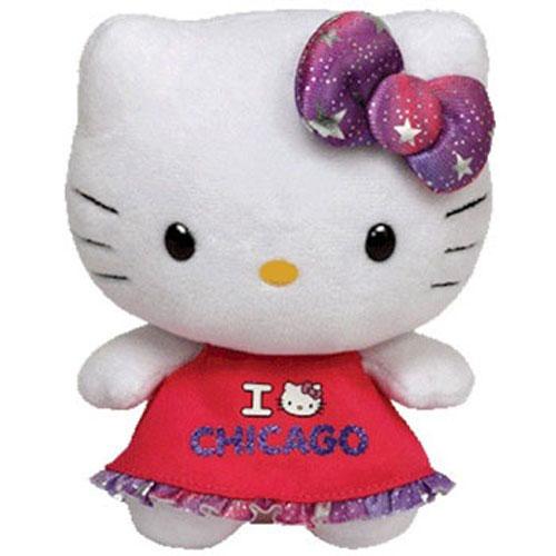 TY Beanie Baby - HELLO KITTY (I LOVE CHICAGO - 6.5 inch)  BBToyStore.com -  Toys 65519552f1e