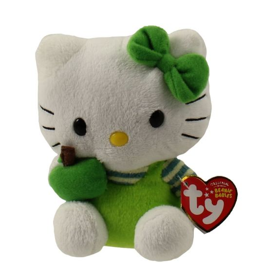 TY Beanie Baby - HELLO KITTY ( GREEN APPLE ) (5.5 inch)  BBToyStore.com -  Toys ff12c127263a
