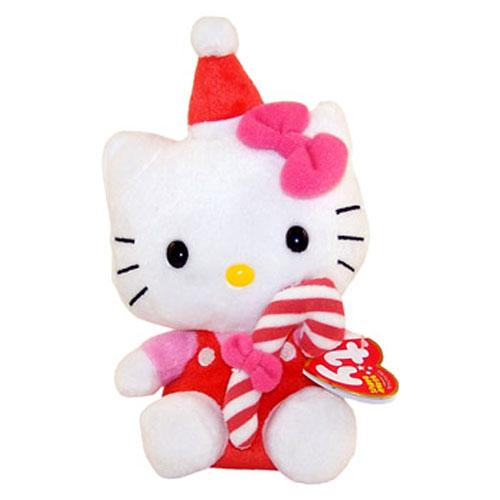 TY Beanie Baby - HELLO KITTY ( RED CANDY CANE) (7.5 inch)