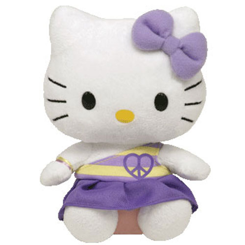 TY Beanie Baby - HELLO KITTY ( PEACE DRESS PURPLE ) (5.5 inch)   BBToyStore.com - Toys 603e3c239ba4