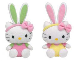 f6ec692afa9 TY Beanie Babies - HELLO KITTY (Set of 2 - Bunny Pink   Yellow Overalls