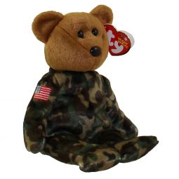 103a0a421be TY Beanie Baby - HERO the USO Military Bear (w  US Flag on Arm