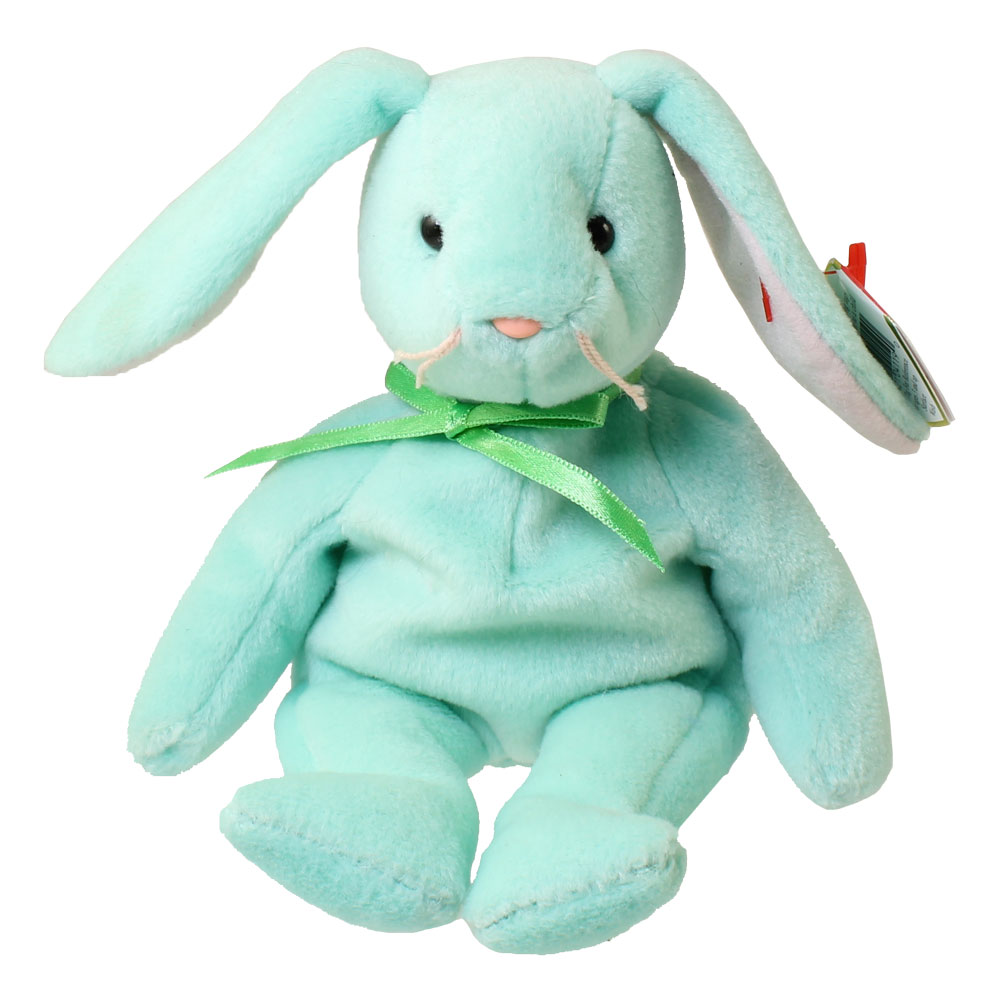 404de28ef39 TY Beanie Baby - HIPPITY the Green Bunny (8.5 inch)  BBToyStore.com - Toys