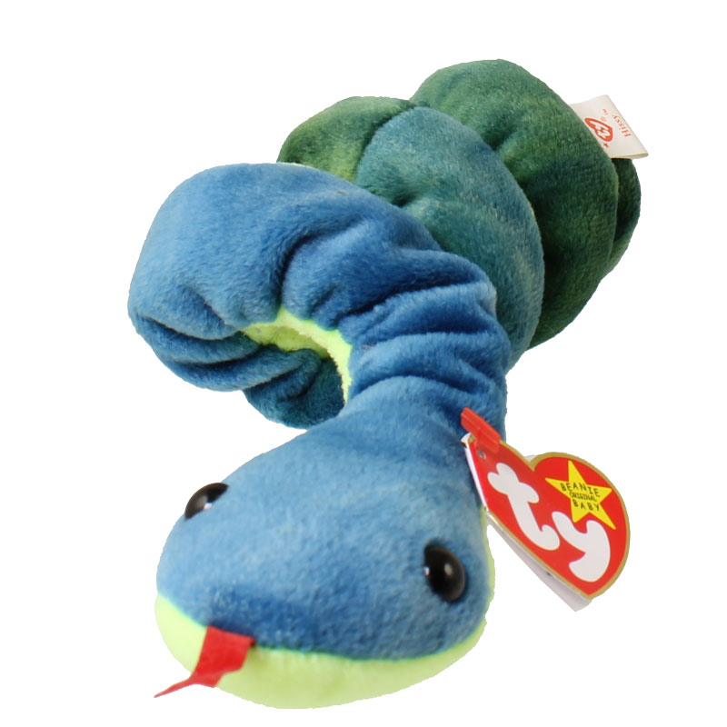 TY Beanie Baby - HISSY the Snake (3.5 inch)(25 inch stretched)   BBToyStore.com - Toys ac6b816f713