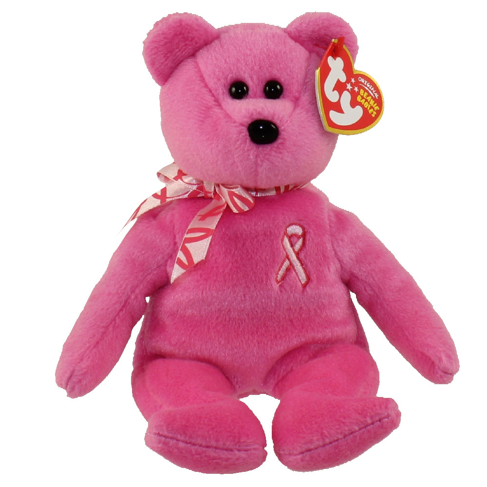 Ty Beanie Baby Hope The Pink Bear Breast Cancer